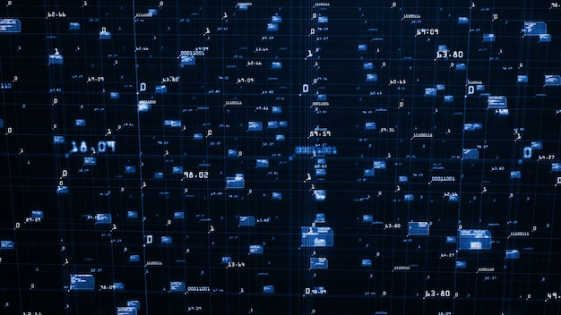 Big data visualisierung hintergrund Premium Fotos