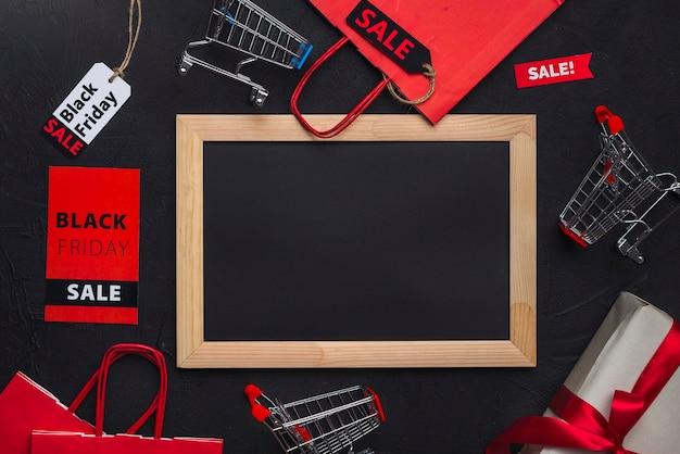 Bilderrahmen, einkaufswagen, pakete und tags Kostenlose Fotos