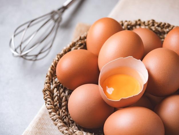 Bio hühnereier Premium Fotos