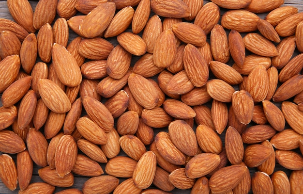 Bio mandeln nüsse Premium Fotos