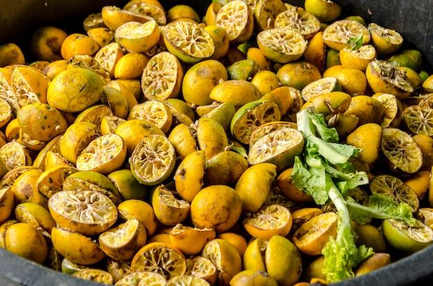 Bioabfälle vom frischmarkt Premium Fotos