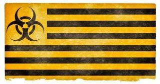 Biohazard grunge flag warnen Kostenlose Fotos
