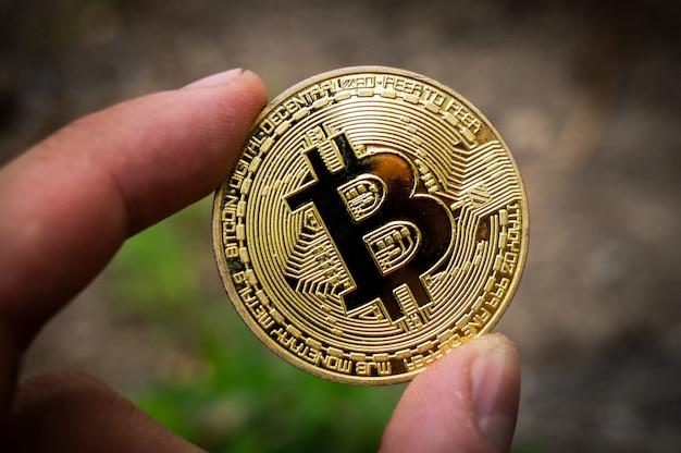 Bitcoin btc kryptowährung zahlungsmittel im finanzsektor Premium Fotos