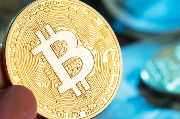 Bitcoin und dollar Premium Fotos