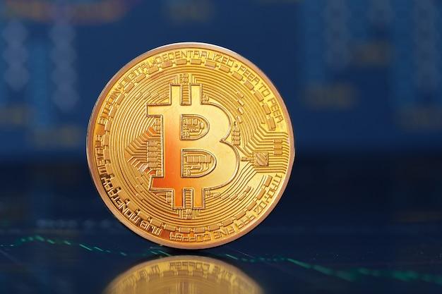Bitcoin und grafik Premium Fotos