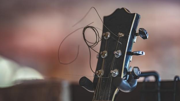 Black head gitarre Premium Fotos