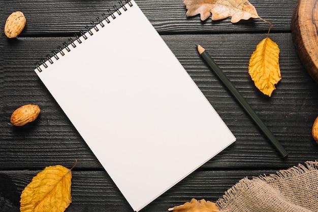 Blätter und stoff um briefpapier Kostenlose Fotos