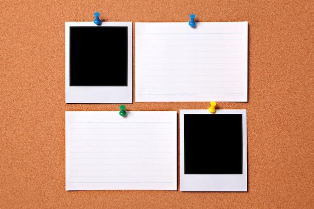 Blank polaroid fotoabzüge und karteikarten Kostenlose Fotos