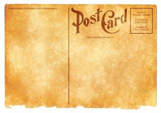 Blank vintage postcard sepia grunge Kostenlose Fotos