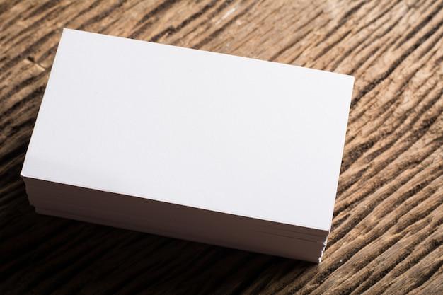 Blank Weiß Visitenkarte Präsentation Corporate Identity Auf