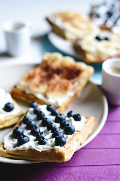 Blaubeere und banane selbst gemacht mit kaffee Kostenlose Fotos