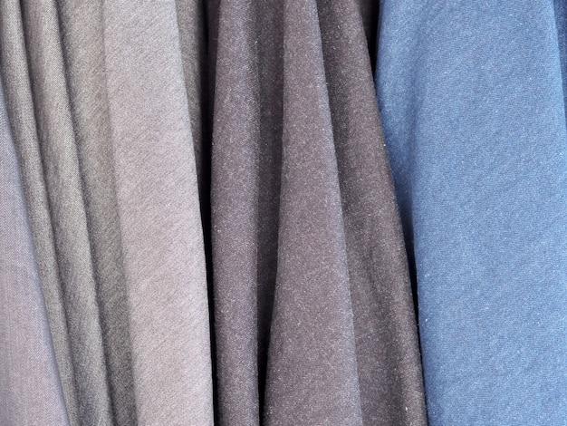 Blaue jeans aus stoff. Premium Fotos