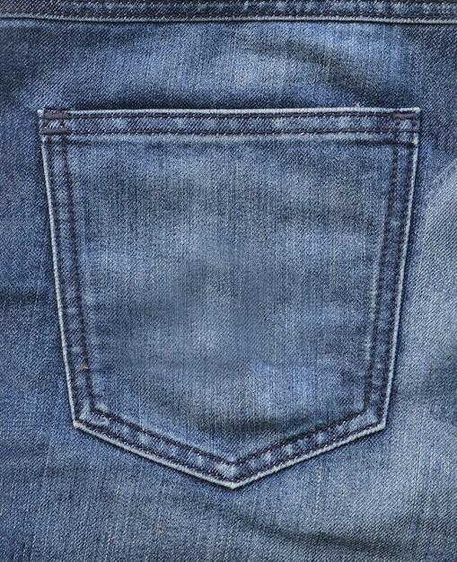 Blaue jeans gesäßtasche Premium Fotos