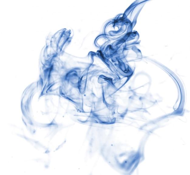 Blaue rauch sammlung auf weißem hintergrund Kostenlose Fotos