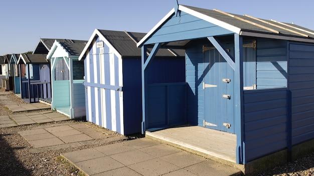 Blaue strandhütten Kostenlose Fotos