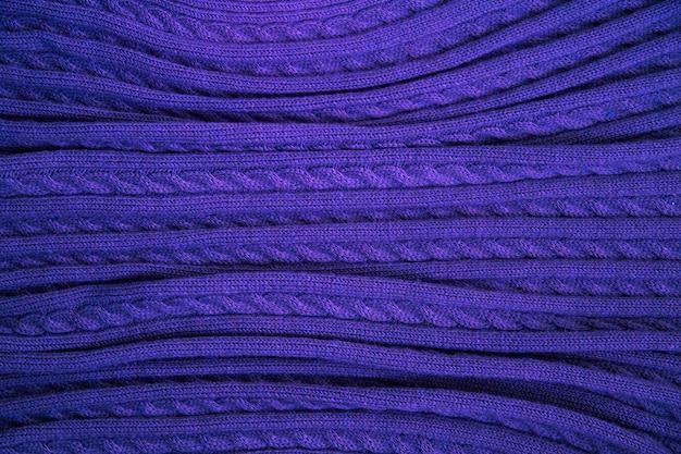 Blaue textur aus feinem wollstoff Premium Fotos