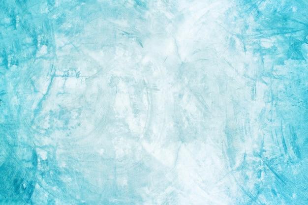 Blaue wand des zement- und ausstellungsraumhintergrundes für darstellungsprodukt Premium Fotos