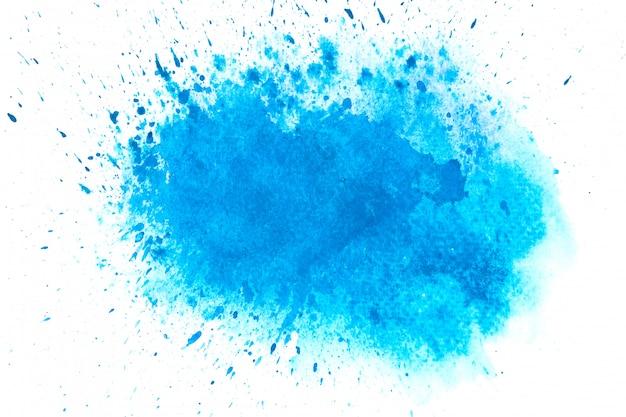 Blauer aquarellfleck schattiert farbenanschlaghintergrund Premium Fotos