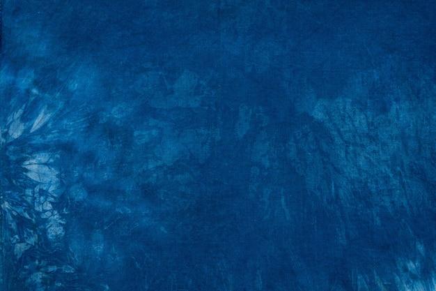 Blauer farbstoff auf baumwollstoff Premium Fotos