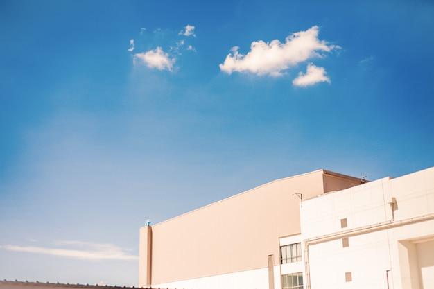 Blauer himmel auf draufsichtmall Premium Fotos