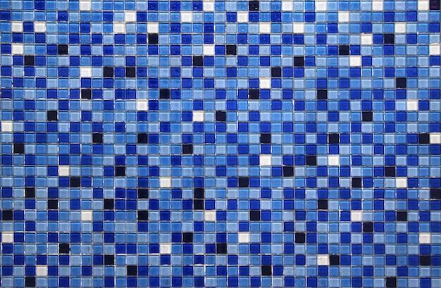 Blauer kleiner bunter fliesenhintergrund Premium Fotos