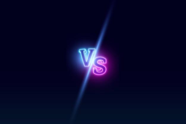 Blauer neon gegen logo Premium Fotos