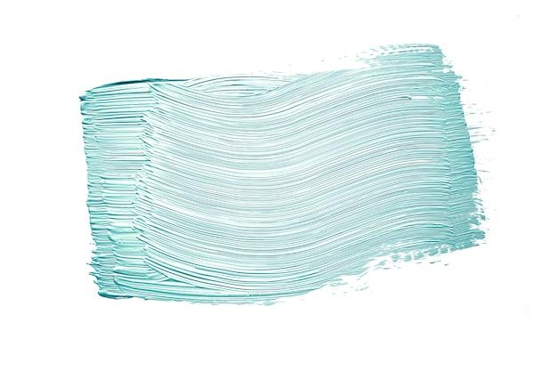 Blauer pinselstrich auf weiß Kostenlose Fotos