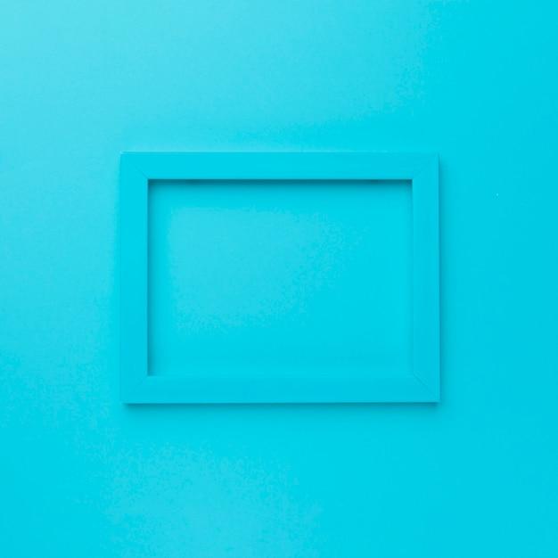 Blauer rahmen auf blauem hintergrund Kostenlose Fotos