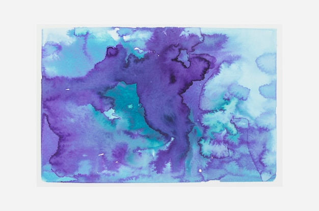 Blauer und purpurroter aquarellfleckhintergrund Kostenlose Fotos