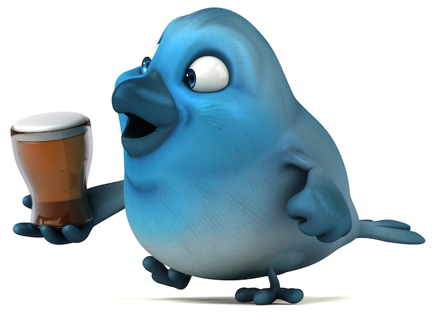 Blauer vogel Premium Fotos