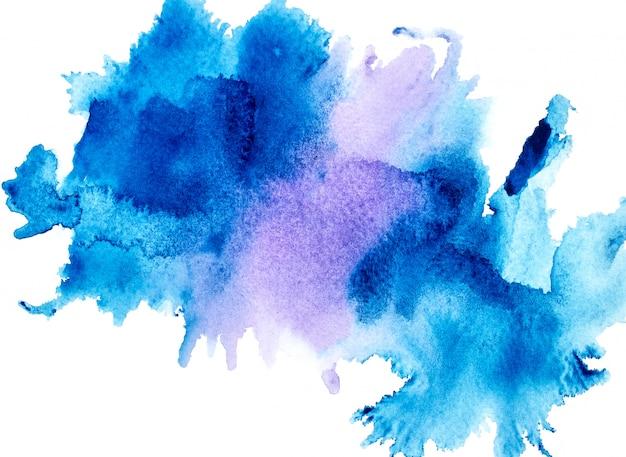 Blaues aquarell. Premium Fotos