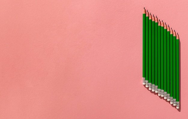 Bleistiftanordnung mit kopierraum Kostenlose Fotos