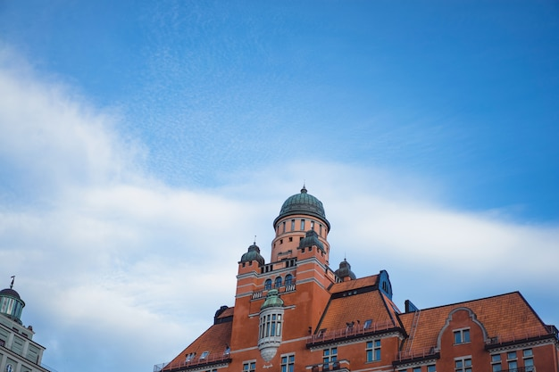Blick auf das stadtbild. landschaften von stockholm, schweden. Kostenlose Fotos