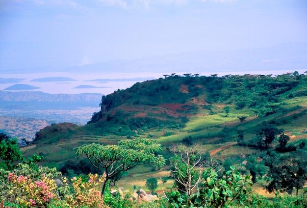 Blick vom dorf dorze in äthiopien Premium Fotos