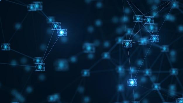 Blockchain-netzwerkkonzept. Premium Fotos