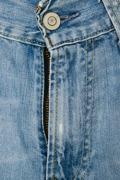 Blue jeans-reißverschlussnahaufnahme Kostenlose Fotos