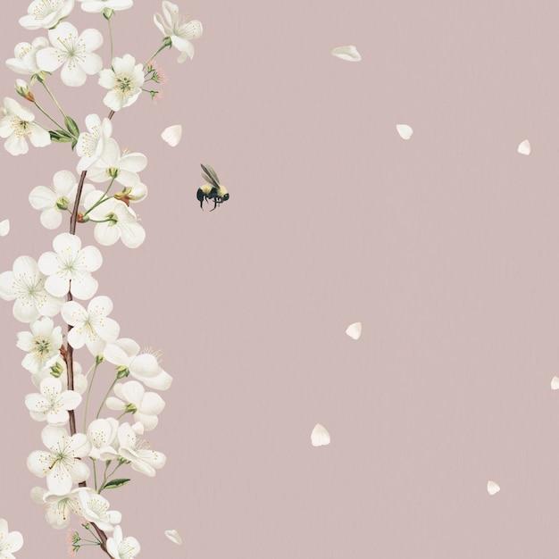 Blühender blumenhochzeitskartenentwurf Kostenlose Fotos