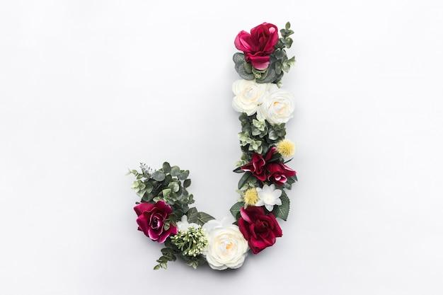 Blumenbuchstabe j blumenmonogramm kostenloses foto Kostenlose Fotos