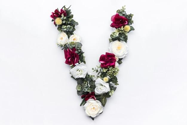 Blumenbuchstabe v blumenmonogramm Kostenlose Fotos