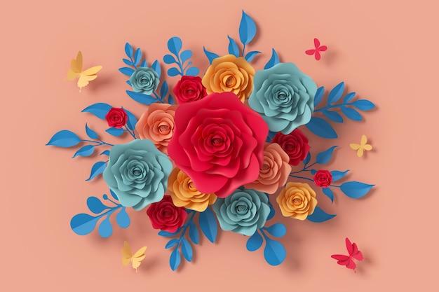 Blumenpapierart Premium Fotos