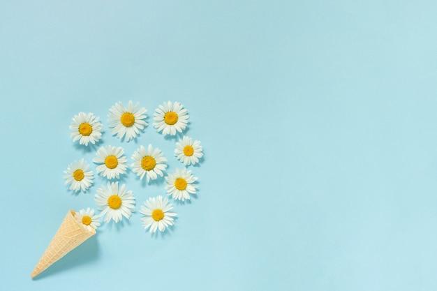 Blumenstraußkamille-gänseblümchenblumen Premium Fotos