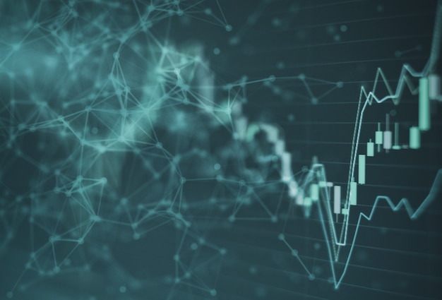 Börse graph chart investment trading börse Premium Fotos