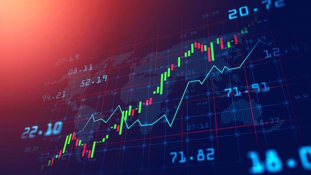 Börse oder devisenhandelsdiagramm im grafischen konzept Premium Fotos