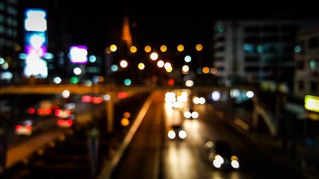 Bokeh des verkehrsstadthintergrundes Premium Fotos
