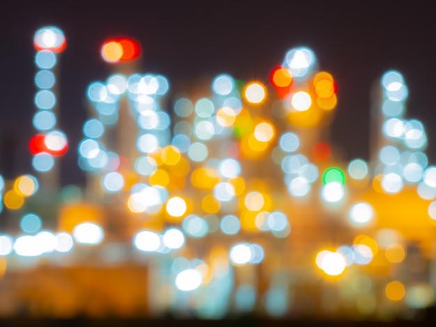Bokeh und verwischt raffinerie oli und gas industrieanlage Premium Fotos