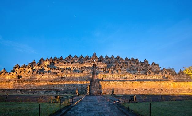 Borobudur sonnenaufgang indonesien Premium Fotos