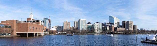Boston im stadtzentrum gelegenes panorama Premium Fotos