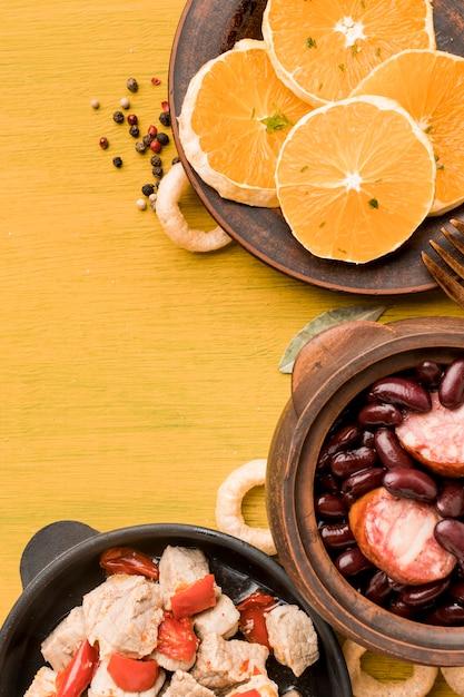 Brasilianischer essensrahmen mit kopierraum Kostenlose Fotos