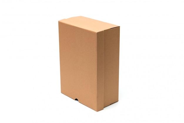 Braune schuhschachtel aus pappe mit deckel für die verpackung von schuh- oder sneakerprodukten Premium Fotos