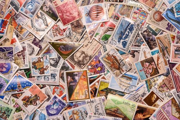 Briefmarke hintergrund Premium Fotos